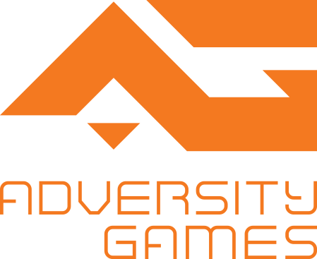 Adversity Games logo - Inspiration quote