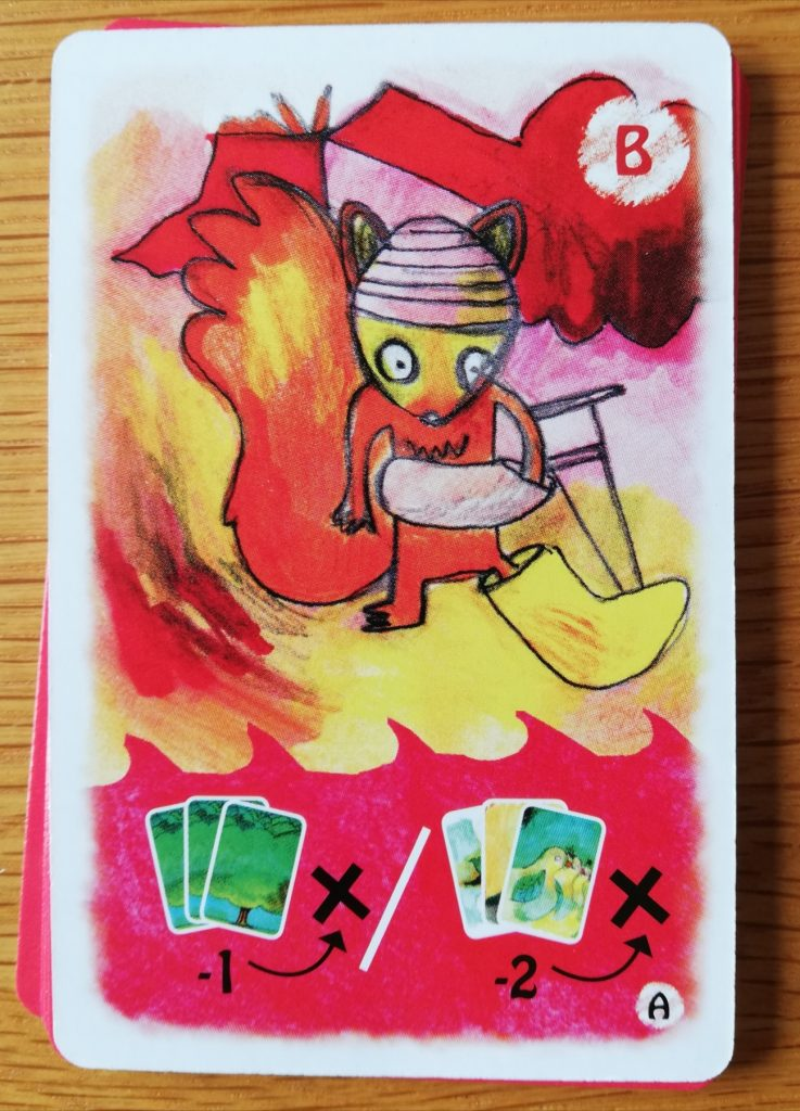 The Squirrel forces you to discard cards from the game.