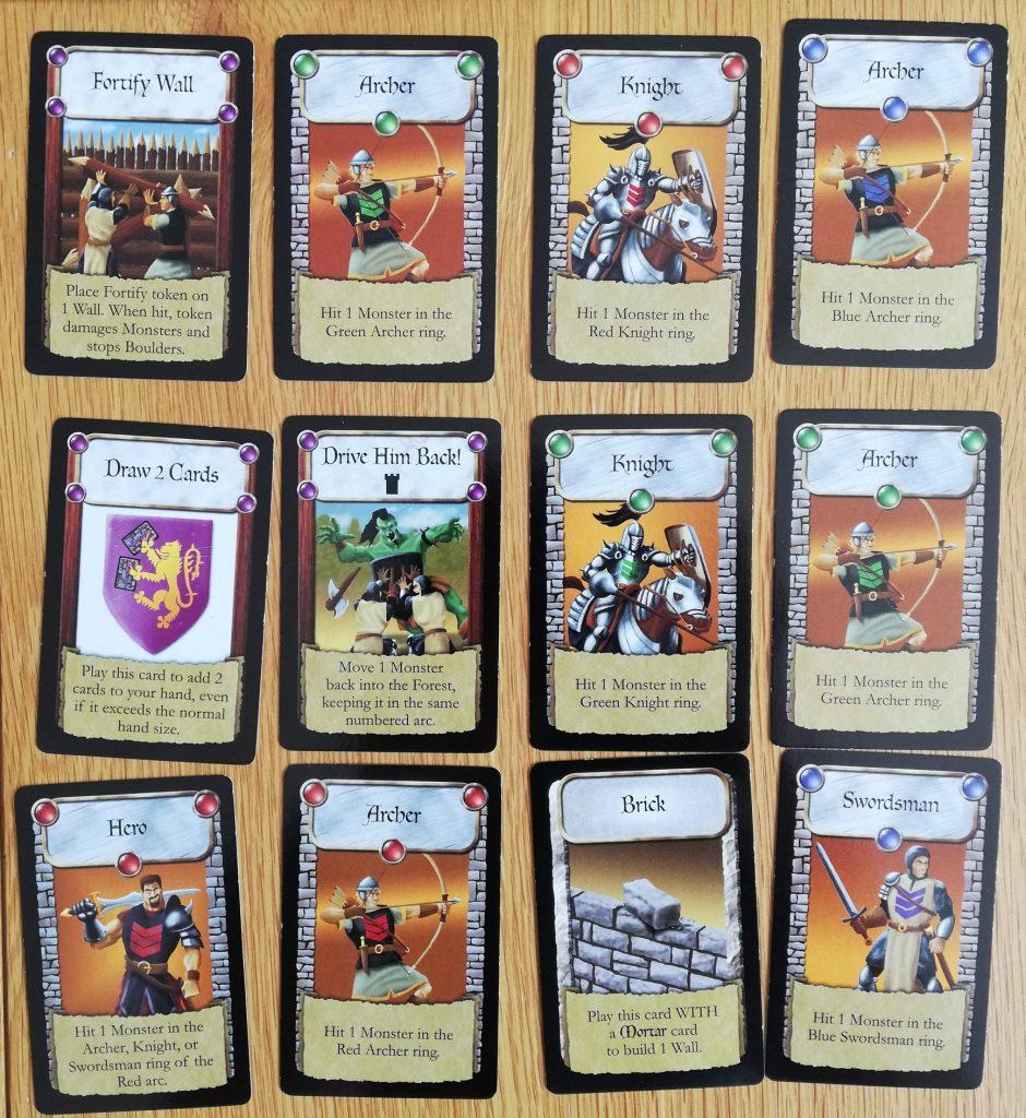 Castle Panic Defender Cards