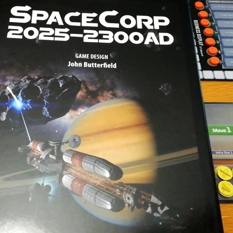 SpaceCorp (GMT Games) : Solo Playthrough – Planeteers Era