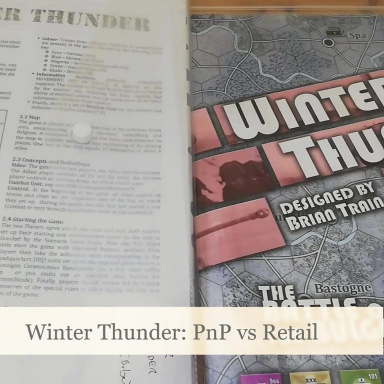 Read more about the article Winter Thunder: PnP vs Retail